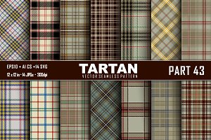 Seamless  Tartan Pattern Part - 43