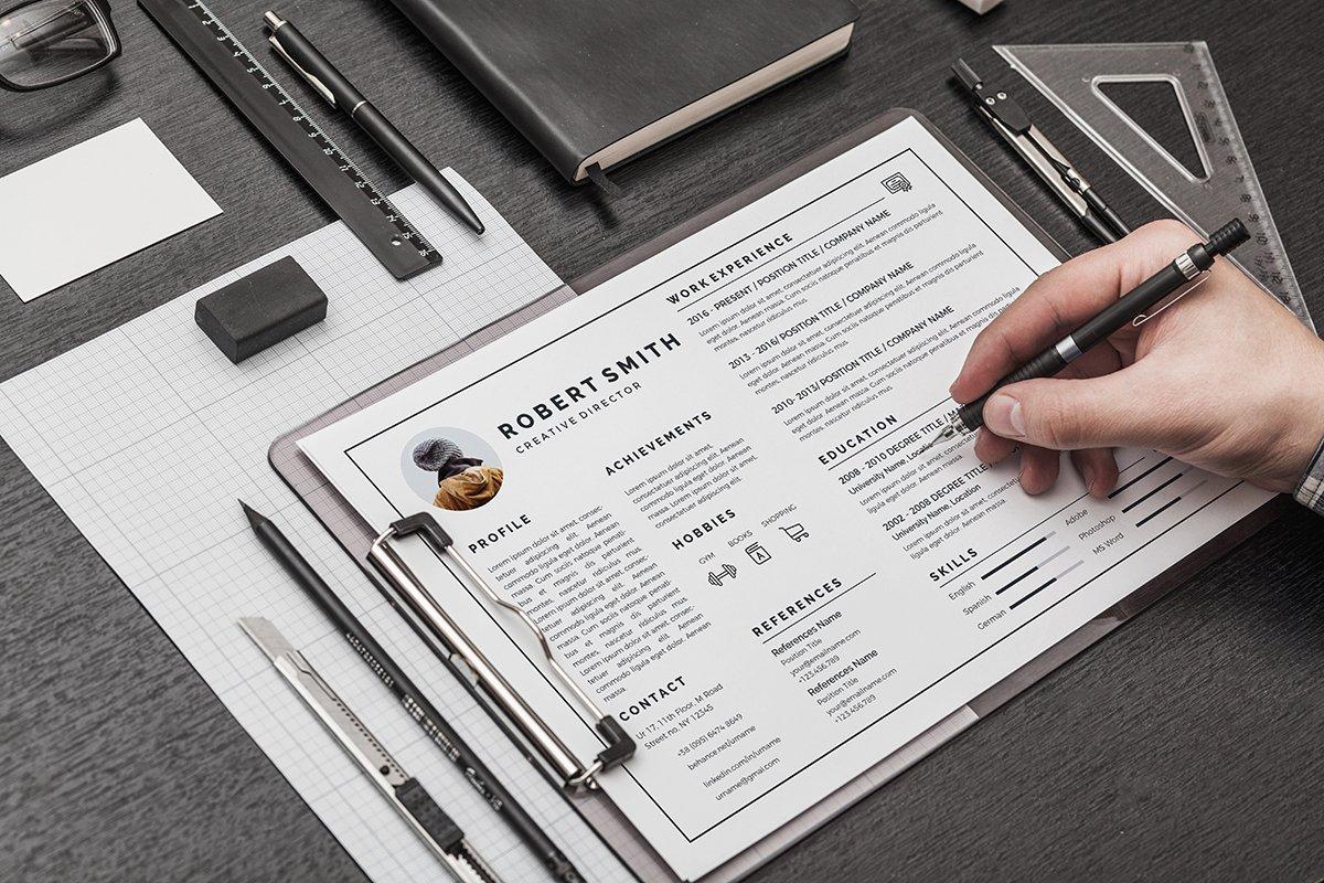 landscape resume resume templates creative market