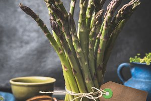 Green asparagus bunch