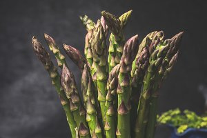 Close up of asparagus bunch