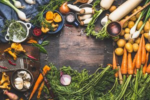 Ingredients for vegetarian dishes