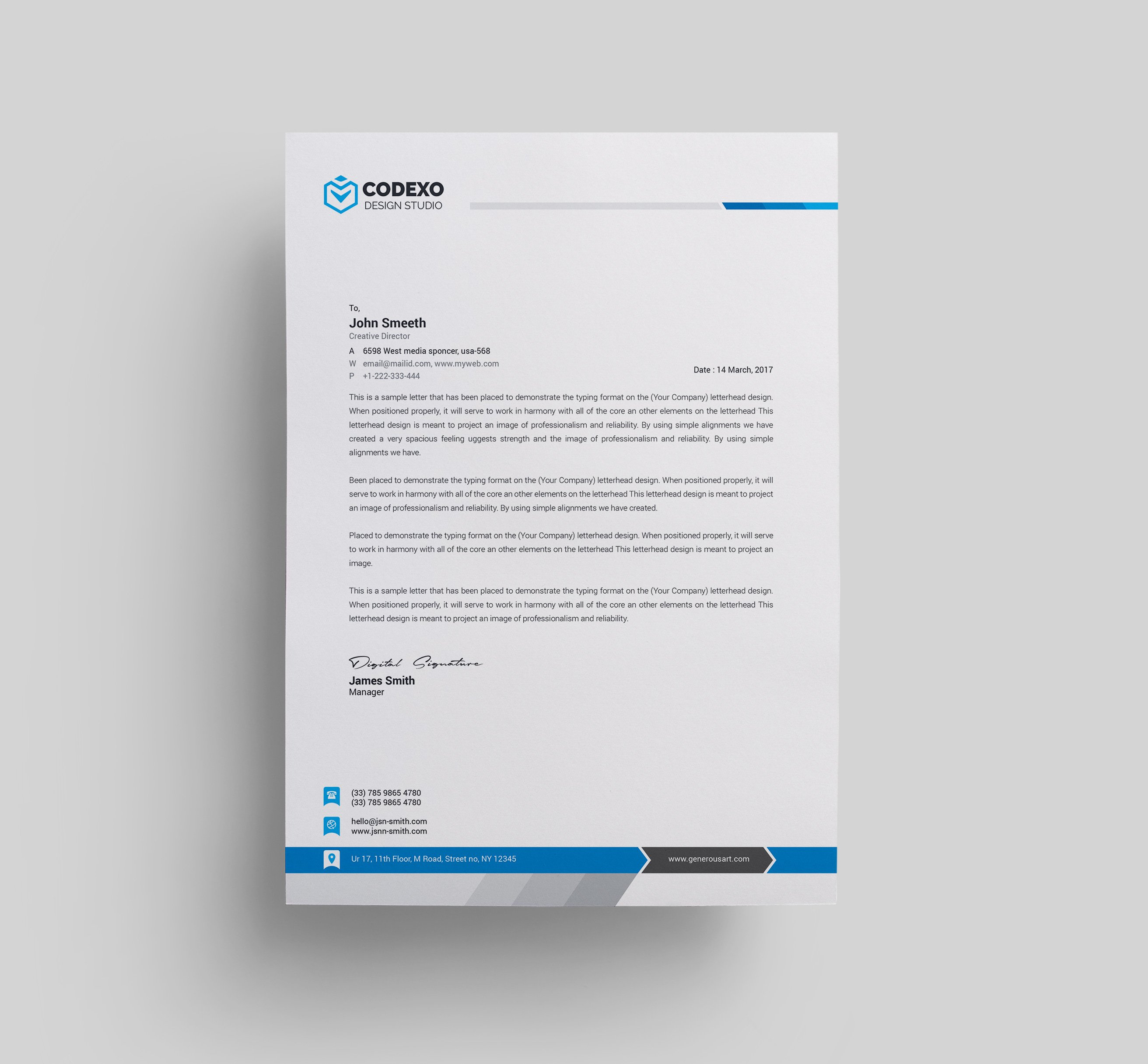 A Creative Corporate Letterhead For Dealing Business With: Stationery Templates
