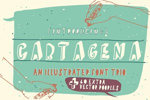 Cartagena Hand Drawn Font
