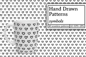 Hand drawn patterns. Symbols
