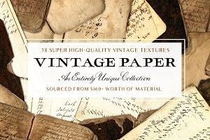 Vintage Book & Paper Texture Pack