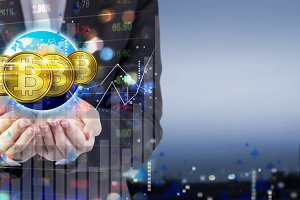 Investment concept of bitcoin