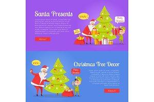 Poster of Santa Presents and Xmas Tree Decor.
