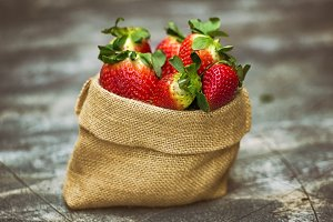 Sack of strawberries