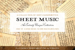 Vintage Sheet Music Textures
