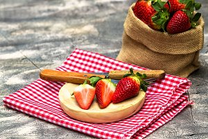 Still life of strawberries
