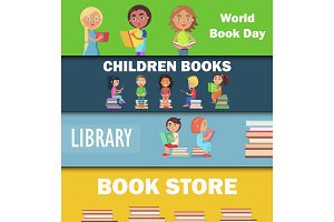 World Book Day, Children Library and Bookstore
