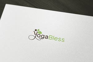 Yoga Bless Logo Template