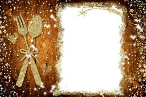 Background for write Christmas menu
