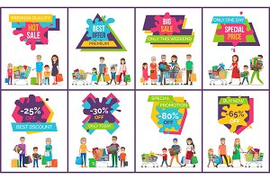 Hot Sale Premium Offer Vector Illustration