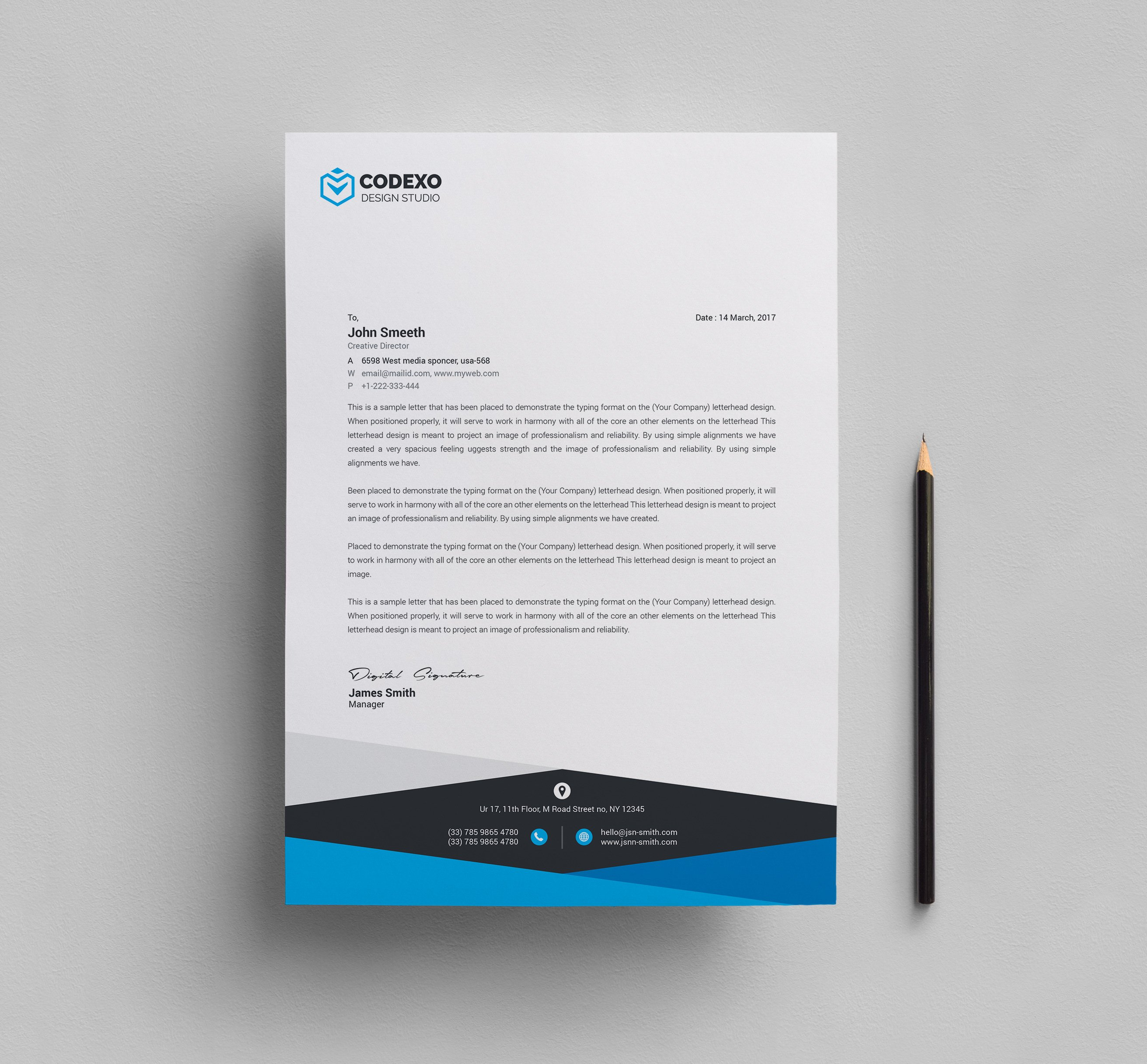 Design Letterhead Template Stationery Templates Creative Market