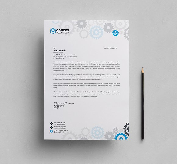 Business letterhead template stationery templates creative market business letterhead template stationery flashek Choice Image