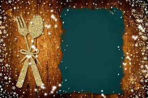 Background for write Christmas menu,