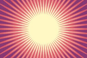 red sun pop art background