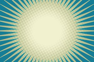 blue sun pop art background