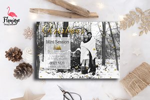 Christmas Mini Session Template -