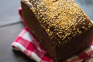 Healthy homemade rye bread