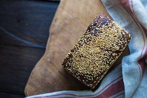 Healthy homemade rye bread