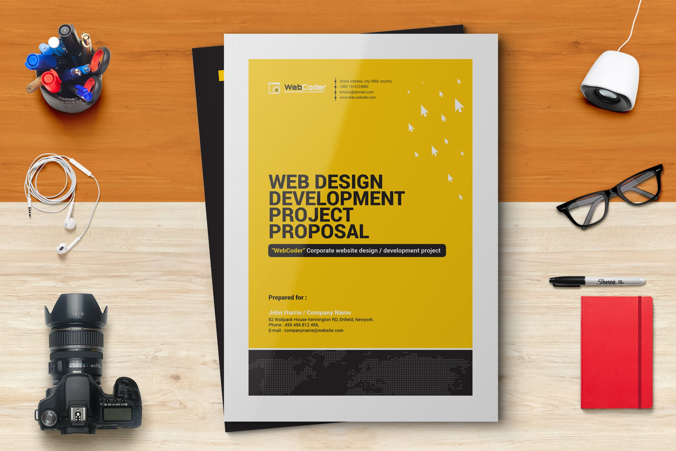 web design proposal stationery templates creative market