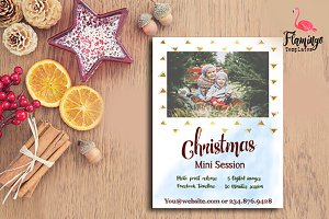 ON SALE Christmas Mini Session Templ