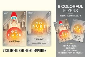 Go Pure - 2 PSD Flyer Templates