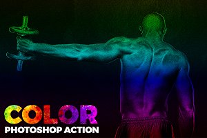 Photoshop Action-Color Photo Effect