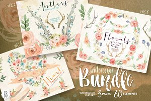 BUNDLE! Watercolor florals