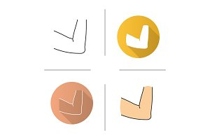 Elbow joint icon