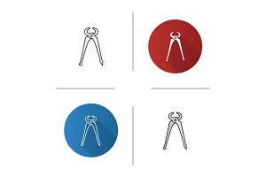 Carpenter's end cutting pliers icon
