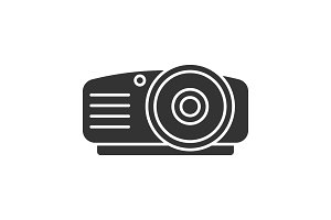 Projector glyph icon