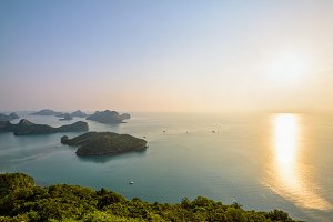 Sunrise at Mu Ko Ang Thong