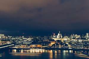 London aerial cityscape skyline
