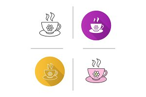 Cup of herbal tea icon