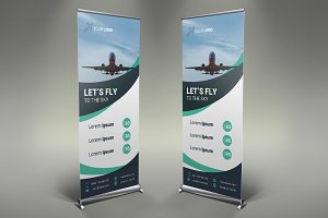 Airline Roll Up Banner