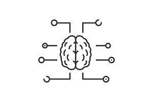 Neurotechnology linear icon