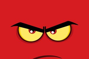 Angry Cartoon Funny Face