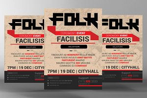 Folk Music Flyer