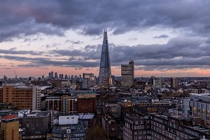London skyline and Shard Building