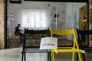 Young company hiring