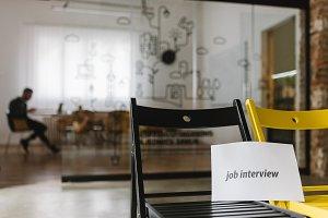 Job interview meeting room