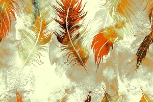 feathers seamless pattern | JPEG