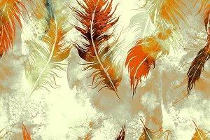 feathers seamless pattern | JPEG