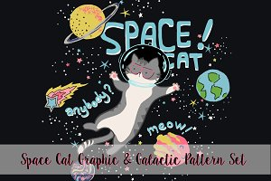 Space Cat & Galactic Patterns Set