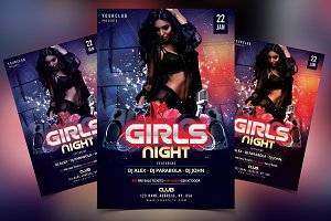 Girls Night - DJ PSD Flyer Template