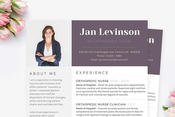 Nursing Resume Template Word from images.creativemarket.com
