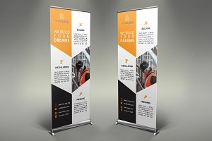 Construction Roll Up Banner